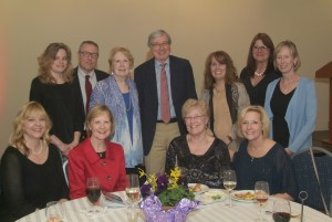 Dr. Frank J. Twarog celebrated with colleagues and members of his office staff.