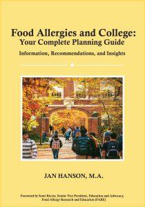 Book cover Food Allergies and College