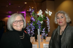 Floral arrangement created by Michele Carriick (r.)
