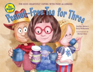 book cover: Peanut-Free Tea for Three